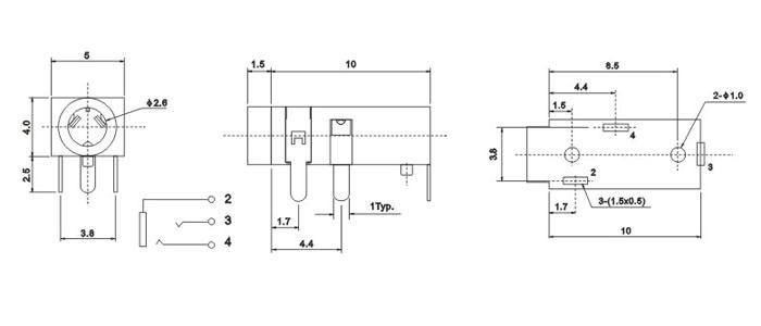 pj-208c_北冠官网,薄膜轻触开关,轻触开关,贴片轻触